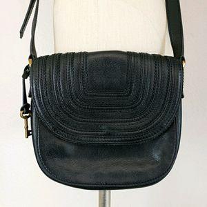 Fossil Emi Leather Crossbody Saddle Bag